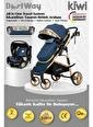 Kiwi BestWay All in One Travel Sistem İskandinav Tasarım Bebek Arabası, Oto Koltuğu, Bakım Çantası Mavi